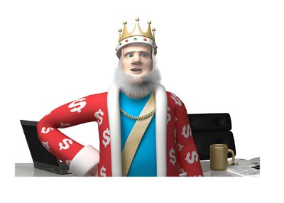 The King is reporting on the New Jersey online poker situation while standing in front of his office desk