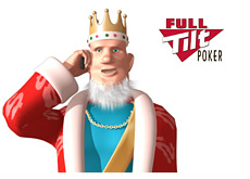poker king is on the cellphone - reporting about full tilt
