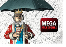 Poker King is reporting in the rain - Pokerstars Mega Milestones promotion is on