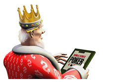 -- poker king is reporting from day 8 f the world series --