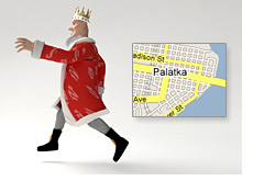 poker king is running away from palatka florida