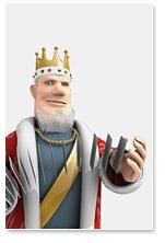sbrugby - king shuffling cards