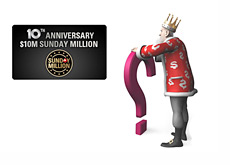 The King is wondering if Pokerstars can get 50,000 people to sign up for the 10th Anniversary Sunday Million
