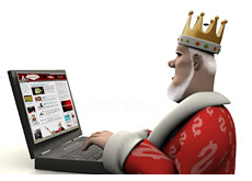 poker king is surfing his own website - of course - its the best poker site out there - ohhh yess