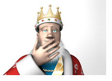 The King is surprised