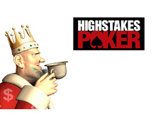 -- The King is drinking his morning tea and updating his visitors on the last episode of High Stakes Poker --