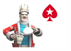 The King is pouring a cup of tea, while talking about the latest news from Pokerstars in relation to the U.S. market
