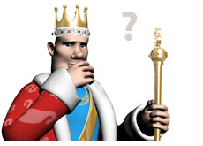 poker king is in a thinking pose - pondering the identity of seda1 at full tilt poker - player that plays against phil ivey