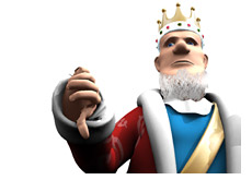 king gives a thumb down for exclusive wsop and wpt deals for cardplayer and pokernews