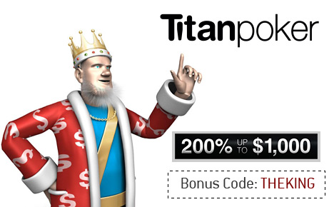 King presents the Black Friday Titan Poker Bonus Code - THEKING