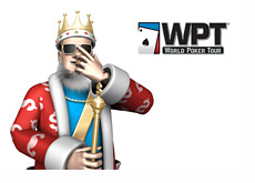 King in Vegas next to the WPT logo