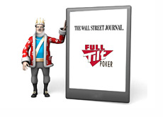 The King is reading the Wall Street Journal article about Full Tilt Poker on his Ipad
