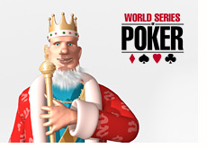 world series of poker logo and the king