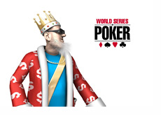 The King is looking at the WSOP logo - World Series of Poker
