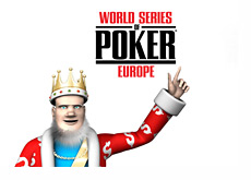King and the World Series of Poker Europe logo