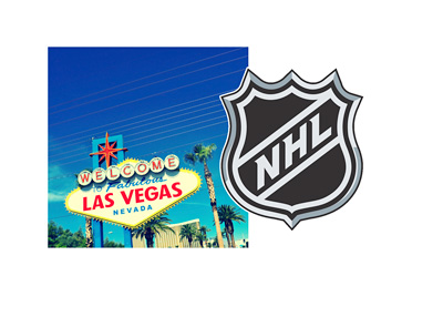 Las Vegas Nevada and NHL - Composite photo - City symbol and the National Hockey League logo