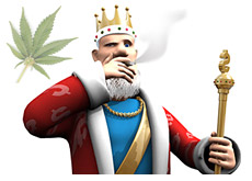 king smoking marijuana