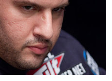 Close-up of Michael Mizrachi at the World Series of Poker 2010