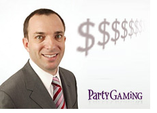 partygaming ceo mitch garber - with dollar signs