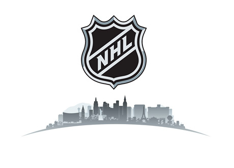 NHL - Las Vegas - Nevada - Skyline - Illustration - National Hockey League