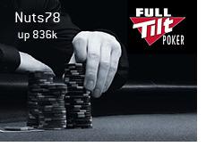 full tilt poker promo image - nuts78 up 836k in nocember 2008
