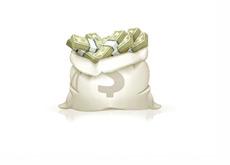 Open Money Bag - Illustration