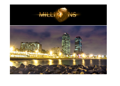 Party Poker Millions - Casino Barcelona - Year is 2018.