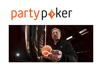 Famous German tennis player Boris Becker joins PartyPoker. Year 2016.