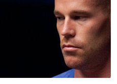Patrik Antonius with a mean stare