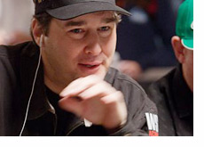 Phil Hellmuth making a move at the World Series of Poker - WSOP