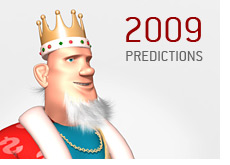 king is making predictions for the new year in the world of poker