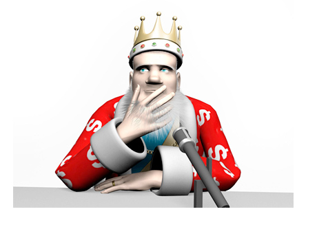 The King is in deep thought about player / media relations in poker