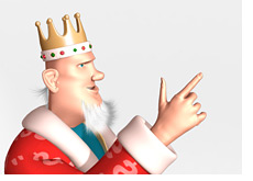 king is pointing up to the title of the article about a british kid dying after playing poker