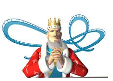 -- poker king in his trademark thinking pose --