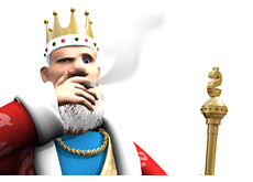king is smoking a cigar - telling it the way it is in the world of poker