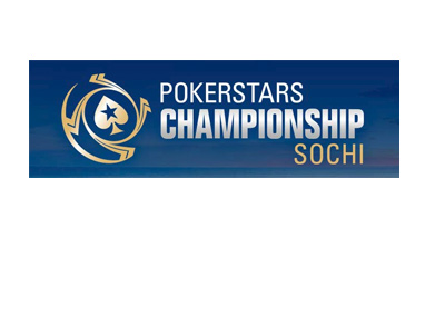 The Pokerstars tournament - Sochi - Logo on blue.