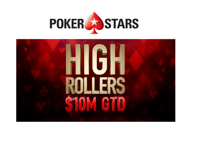 Pokerstars Highrollers 10m - Logo and event graphic.  Year is 2018.