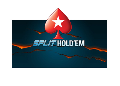 Pokerstars Split Holdem - Cash Game - Logo - Year is 2018.