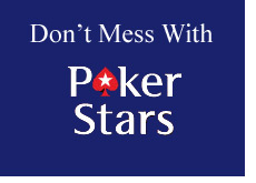 do not mess with pokerstars - logo - blue background