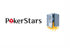 Pokerstars logo next to the open safe - Illustration
