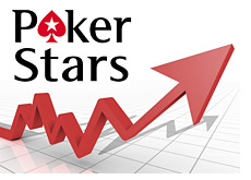 chart showing the pokerstars stock going up - logo