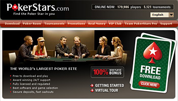 website screenshot - pokerstars - mac computer