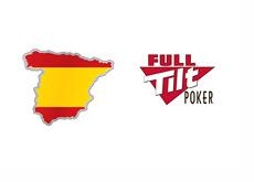 Map of Spain and Full Tilt Poker logo