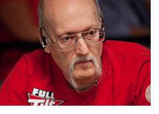 Steve Zolotow wearing a red shirt