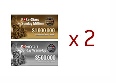 Pokerstars Double Vision Sunday Promotion - Sunday Million and Sunday Warm-up x 2