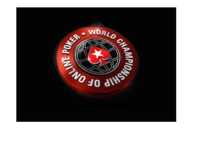 The World Championship of Online Poker - WCOOP - Red logo on black background.