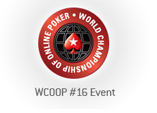 -- world championship of online poker - wcoop - event 16 --