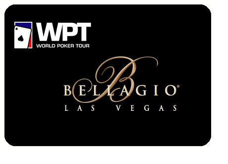 WPT and Bellagio logos on black background - World Poker Tour