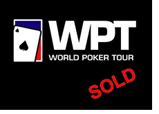 -- world poker tour logo and sold sign --
