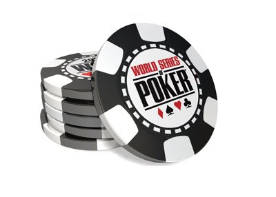 The World Series of Poker chip stack - Illustration - Black ones.